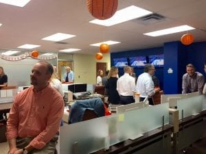 This past Thursday we hosted a March Madness Open House at our West Knoxville office! We invited a variety of our professional contacts join us for drinks, snacks, and a little bit of basketball! We had Zaxby's and Casual Pint cater. Everything was delicious! We like having regular get-togethers, especially as we grow. Thanks to everyone who came out!