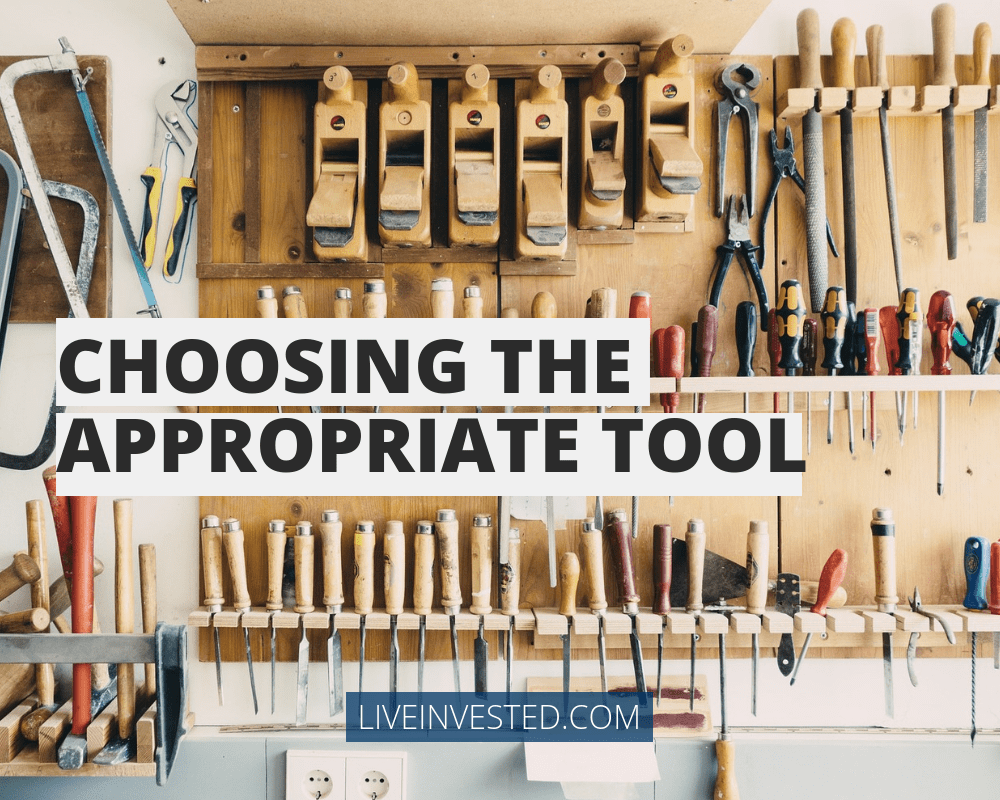 Choosing the appropriate tool. Investment advice TVAMP Knoxville Burt Peake