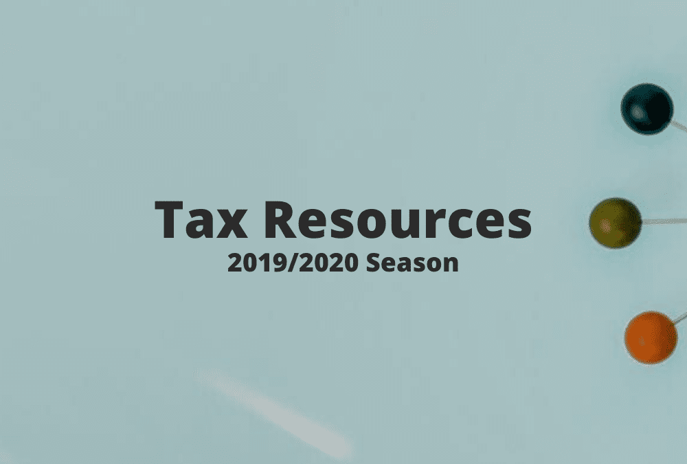 Tax Season Resources 2019/2020