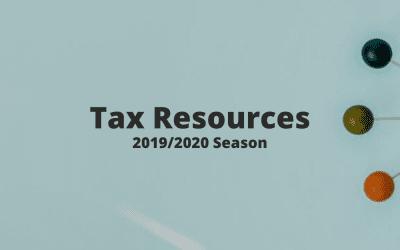 Tax Season Resources 2019/2020