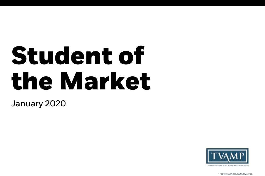 Student of the Market – January 2020