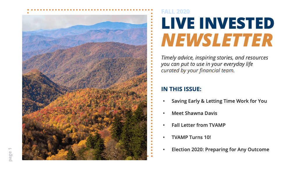 Fall 2020 Print Newsletter