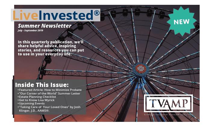 Summer 2019 Print Newsletter